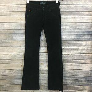 Hudson Black Corduroy Bootcut Pants